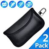 EBILUN Car Key Signal Blocker Pouch Case [ 2 PACK ] Mini Faraday Bag for Car Keys Keyless Entry Fob Guard Signal Blocking Pouch Bag Safe Signal Blocking Faraday Cage