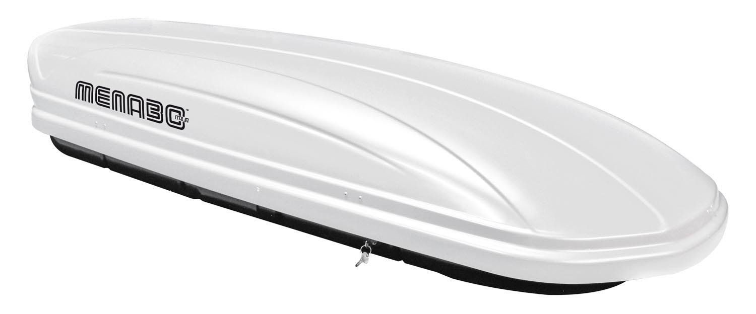MENABO MAA320W Roof Box Luggage Box Lockable White 320 Litres 1