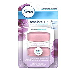 Febreze SmallSpaces Spring and Renewal Scent Refills Air Freshener (2 Count, 11 mL) by Febreze