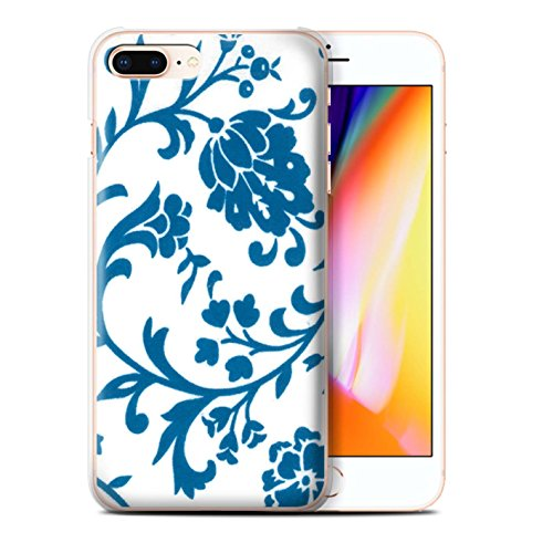 Stuff4 Hülle / Case für Apple iPhone 8 Plus / Pack (5 Pack) / Blumenmuster Kollektion Blaue Blume