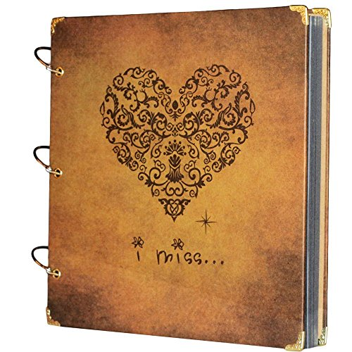 xiduobao álbum de fotos álbumes de recortes boda libro de visitas, diario de viaje DIY álbum de fotos álbum de grabación historia