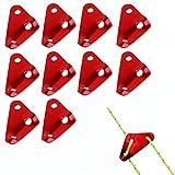 Aveson confezione da 10in alluminio triangolo guyline Cord Adjuster tenda vento corda secchio fissaggio corda tenditori per campeggio, Large