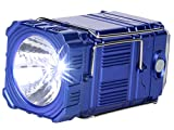 DOCOSS- Camping 3 in 1-Portable Led Torch Light Bright High Power + Emergency Lights Lantern + Colorful Blinking Night Lamp - Torches (BLUE)