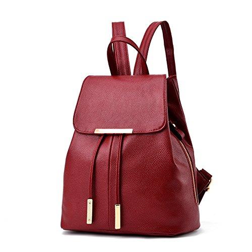 Handtasche eine neue Feder Rucksack Tasche koreanische Frauen Leder Rucksack Schultasche einfach Reisen b