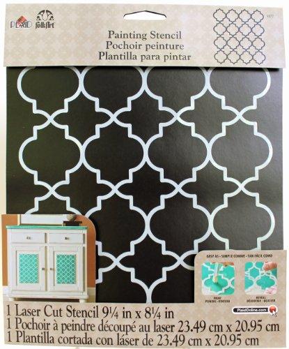 Plaid: Craft Kunststoff Folkart Malen Schablone 21,6x 10-inch-Moroccan Tile -