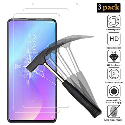 ANEWSIR Schutzfolie Panzerglas für Xiaomi Mi 9T, Xiaomi Mi 9T Bildschirmschutzfolie, [3 Stück] Ultra Clear, Anti-Bläschen, Anti-Kratzen, Panzerglasfolie Panzerfolie Folie für Xiaomi Mi 9T.