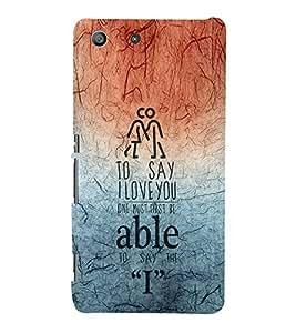 EPICCASE I love you Mobile Back Case Cover For Sony Xperia M5 (Designer Case)