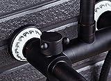 Yn Duschset Handbrause Multifunktionsduschkopf Schwarz Bronze Duschkopf Messing Vintage Europäische Dusche Bad Dusche mit Spritzwasserhahn