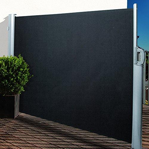 Noor Seitenmarkise Polyester, anthrazit, 160 x 300 cm
