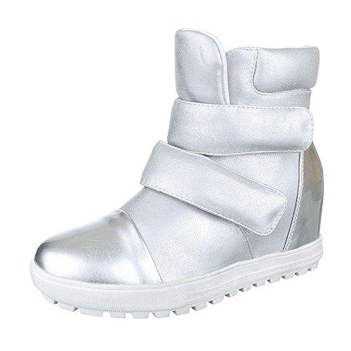 Ital-design - Chaussures Plates Femme Argent