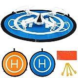 Cellstar Landing Pad Drone Quadcopter Héliport Drone DJI Tapis d'atterissage,Landing Pad Drone 55 cm 22pouces Helipad Hélicoptère Parking Tablier Drone avec Caméra Accessoires Portable + Pliable + Imperméable + Résistant à l'eau + 2 côtés avec 3 Landes d'ABS (22 '/ 55CM)
