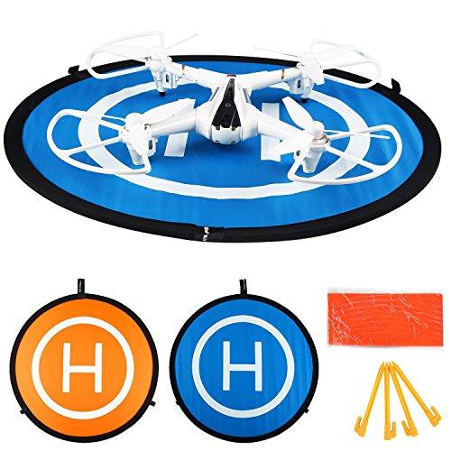 """Cellstar Landing Pad Drone Quadcopter Helipuerto Drone DJI Landing Mat, Landing Pad Drone 55cm 22in Helipuerto Helicóptero Parking Drone con cámara Accesorios Portable + Plegable + Waterproof + Water Resistans ABS (30 """" / 55cm)t + 2 Lacks con 3 Lande"""