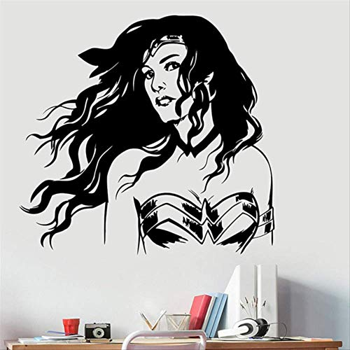nyl Wall Sticker Dc Comics Superhelden Art Decorations for Home Teen Kids Girls Room Room Bedroom Decor ()