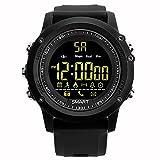 Bluelover Ex17 5Atm Wasserdicht 365 Tage Standby Bluetooth Schrittzähler Remote Camera Smart Sport Uhr - Schwarz