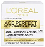 L'Oreal Paris Age Perfect Feuchtigkeitspflege Tagescreme, mit Soja-Ceramid, mildert Altersflecken und strafft die Haut, 50 ml