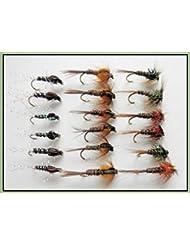 18mouches de pêche nymphes–Cruncher et faisan Tails