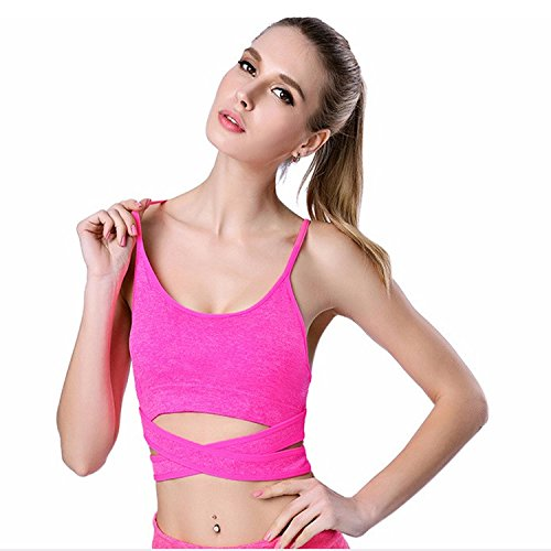 GRAPPLE DEALS New Front Cross Padded Stylish Fashionable Designer Fitness, Gym, Running, Breathable Sports Bra Gym Tank Tops For Girl's Women's (34)