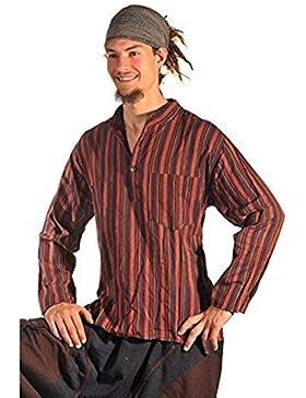 Camicia casual, stile hippie Goa medioevale, per la pesca, tempo libero