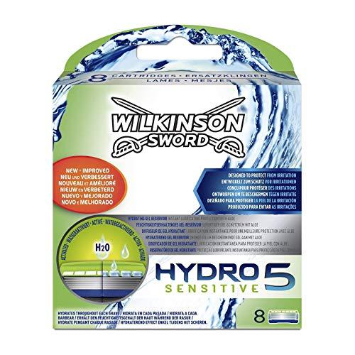 Wilkinson Sword Hydro 5 Sensitive - Recambio de Cuchillas de Afeitar de 5 Hojas para...