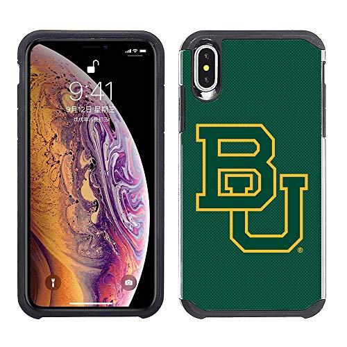 Prime Brands Group Schutzhülle für Apple iPhone XS Max, NCAA Lizenziertes Case für Baylor University Bears, Grün/Schwarz Baylor University Bears