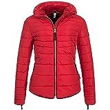 Marikoo AMBER2 Damen Winterjacke Jacke Steppjacke Parka Mantel Warm gefüttert 10-Farben XS-XXL, Größe:M / 38;Farbe:Rot