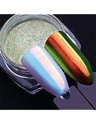 Born Pretty 0.5g Poudre glitter unicorne chromé sirène pigment nail art manucure décoration 3D