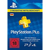 PlayStation Plus Mitgliedschaft - 3 Monate [PS4 Download Code - deutsches Konto]