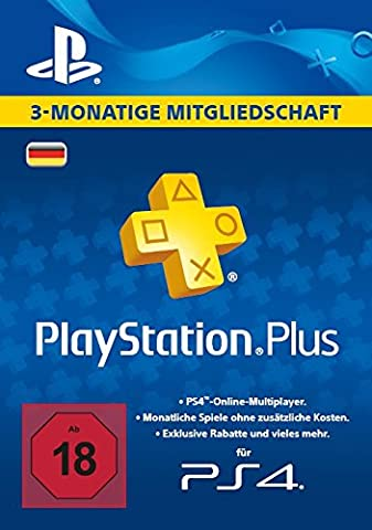 PlayStation Plus Mitgliedschaft - 3 Monate [PS4 Download Code -