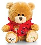 Lashuma Plüschtier Bär, Pipp The Bear mit Rot Pulli, Kuscheltier Teddy angekleidet, Teddybär mit Kleidung ca. 14 cm