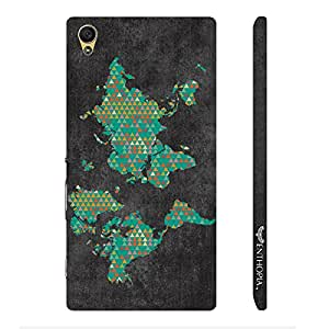 Sony Xperia Z5 Dual Handy World Map 2 designer mobile hard shell case by Enthopia