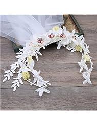 Sweet Saints Bride Wreath, Handmade Head Flower, Hair Ornament Accessoires de mariage
