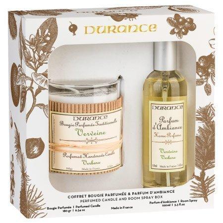 DURANCE Coffret Bougie et Parfum d'Intérieur Verveine