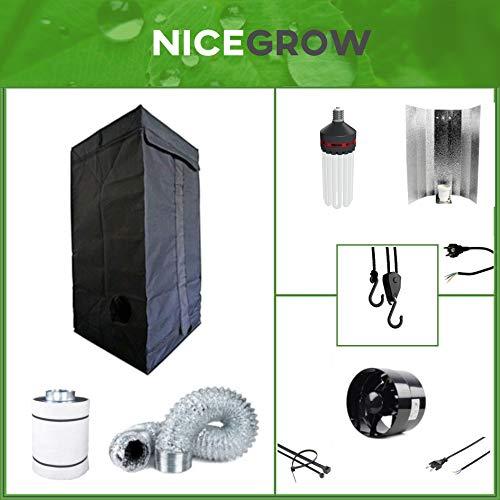 Growset 60 Energiesparlampe 125W Blüte inkl. Abluft 135 CBM/h Komplettset Grow