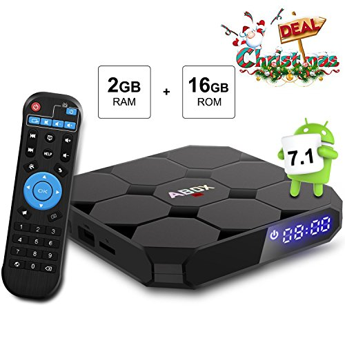 Android TV Box GooBang Doo A1 Max Android 7.1 Quad core 2GB RAM+16GB ROM/WIFI 2.4GHz /Full HD/4K H.265 Android Box