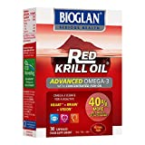 Bioglan Red Krill Oil plus Omega 3 Fish Oil, EPA and DHA, great for healthy heart, brain and vision, one month supply - 30 capsules by PharmaCare Europe Ltd