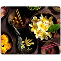 Flowers Leaves Bowls Marigold Plumeria Mouse Pads