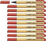 Stylo feutre - STABILO GREENpoint - Lot de 10 stylos-feutres pointe large - Rouge