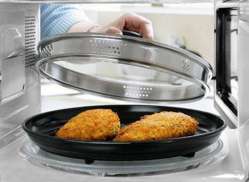 Grillpfanne für die Mikrowelle Fleisch braten Mikrowelle Bräter Pizzablech Mikrowellen-Geschirr...