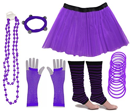 Purple Tutu Skirt Set (choice of colours) Sizes 8 to 24