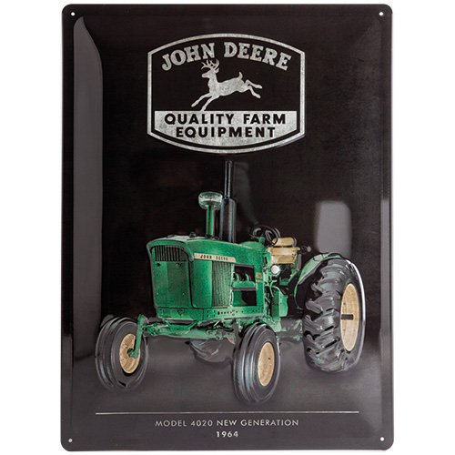 nostalgic-art-23235-john-deere-model-4020-plaque-en-metal-30-x-40-cm-multicolore-30-x-40-x-02-cm