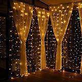 GlobaLink® 6×3M Lichterkette mit 600 LED-Lämpchen Lichtervorhang Licht Schnur, warm weiße Beleuchtung für Fenster, Weihnachten, Party, Outdoor, Hochzeit, Dekoration usw. Test