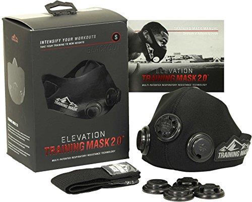 Training Mask Formación máscara 2.0Blackout Edition con Adicional Incluye...