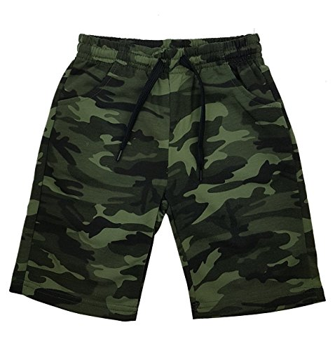 Jungen Army Bermuda Tarn Shorts in Grün camouflage, Gr. 164, Jn6120.16 (Short Boys)