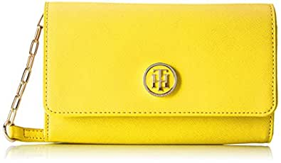 Tommy Hilfiger TH Chain Mini, Sacchetto Donna, Giallo (Ceylon Yellow), 3 x 12 x 19 cm (b x h x t)