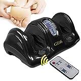 Shiatsu Knet- und Rollmassagegerät für die Füße persönliches Gesundheitsstudio mit Fernbedienung, M, schwarz