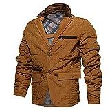 fuhuaxi Herren Casual Blazer Jacke Herbst und Winter PEA Parker Coat Insulation