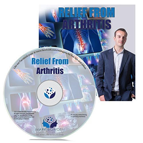 Relief From Arthritis Hypnosis CD - Hypnotherapy recording to natuarally help relieve arthritic pain. Naturally assist without medication, this natural remedy can help with knee, hip, hand, neck and all types of arthritic pain. A wonderful natural treatment and remedy to help you get over arthritis