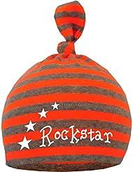gestreifte Baby - und Kinder Mütze Neonfarben Rockstar / in 5 Designs / Größen 0-36 Monate