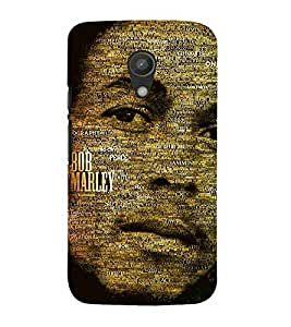 For Motorola Moto G2 :: Motorola Moto G (2nd Gen) famous man, man, black background Designer Printed High Quality Smooth Matte Protective Mobile Case Back Pouch Cover by APEX