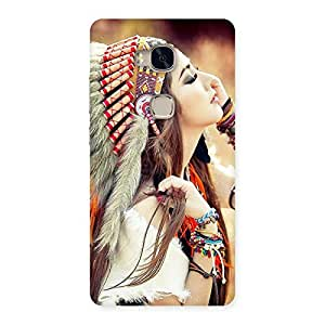 Enticing Native Girl Multicolor Back Case Cover for Huawei Honor 5X